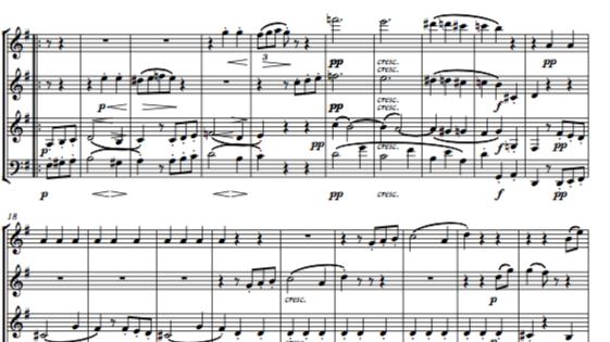 Beethoven: String Trio No.3 in G Op.9 No.1 Mvt.III Scherzo - wind quartet