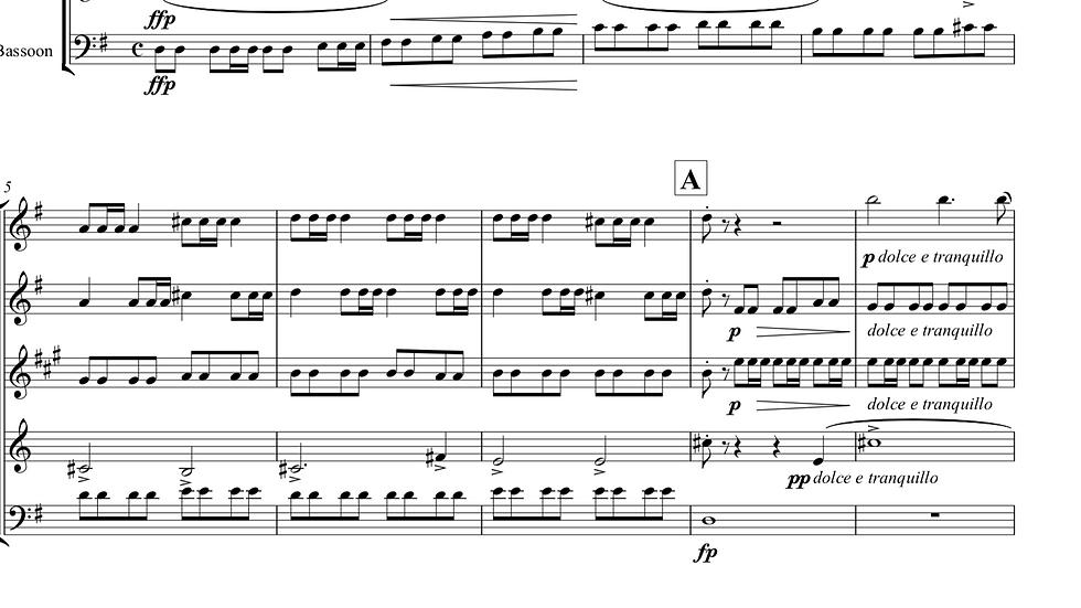 Grieg: Holberg Suite - wind quintet