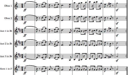Beethoven: Marsch (Military March) in C WoO 20 - wind dectet