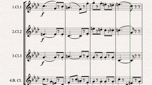 Gounod: Marche Funèbre d'une Marionnette - clarinet quartet