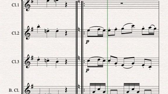 Schubert: Marche Militaire No.2 in G, D733 Op.51 - clarinet quartet