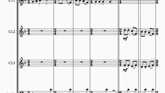 Bartók: Romanian Christmas Carols Sz.57 Series 1 Nos. 6-10 -clarinet quartet