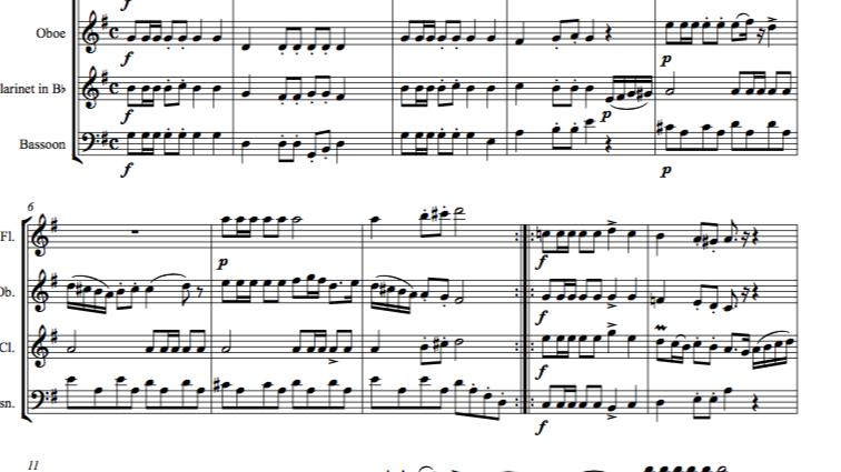 Schubert: Marche Militaire No.2 in G, D733 Op.51 - wind quartet