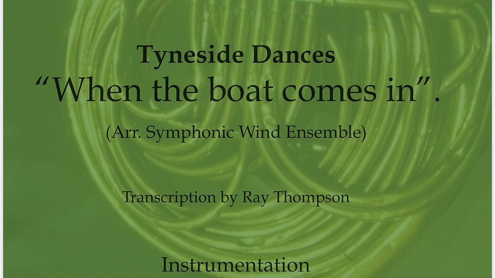 When the boat comes in - wind dectet/bass