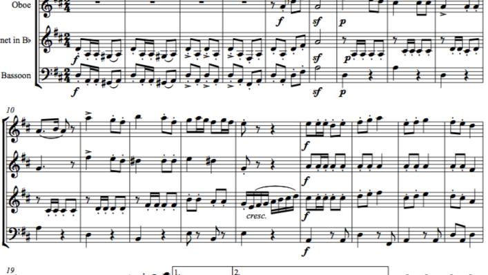 Schubert: Marche Militaire No.1 in D D733 Op.51 - wind quartet