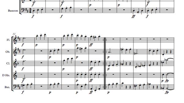 Beethoven: Symphony No.2 Op.36 Mvt.III Scherzo and Trio - wind quintet