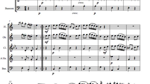 Mozart: Piano Sonata No.11 in A K331. Mvt III. Rondo Alla Turca - wind quintet