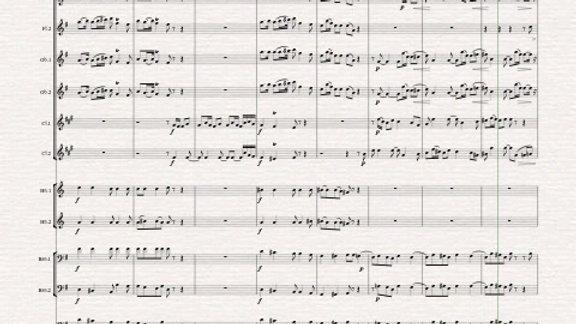 Stravinsky: Pulcinella Suite :Mvt. I.Sinfonia - wind dectet