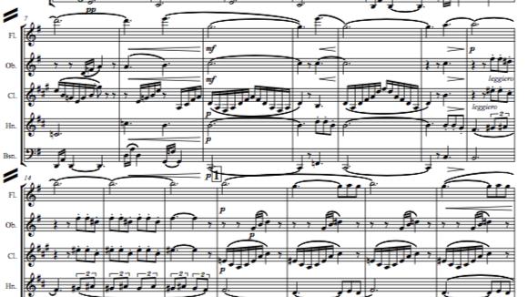 Debussy: Petite Suite (Complete - En bateau, Cortege, Minuet & Ballet) - wind qu