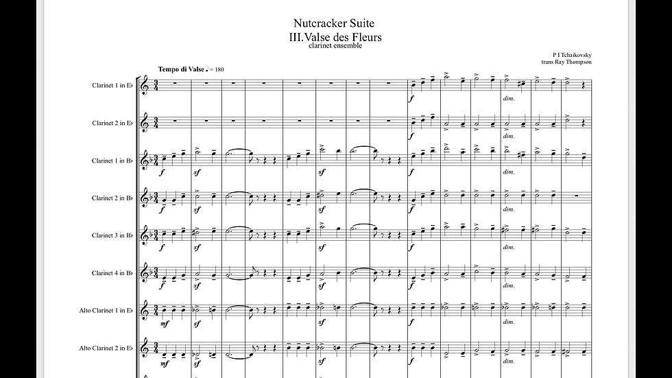 Tchaikovsky: Nutcracker Suite Mvt.III Valse des fleurs - clarinet choir