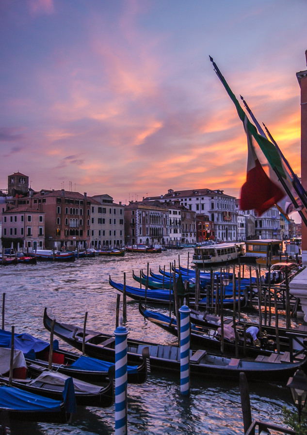 Grand Canal Sunset - Venice, Italy