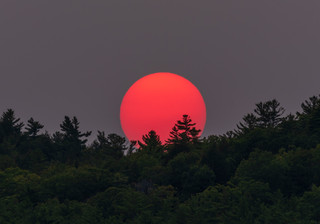 Red Sunset - New Hampshire