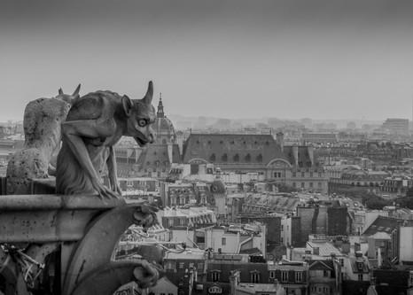 Gargoyles on Notre Dame, Paris, France