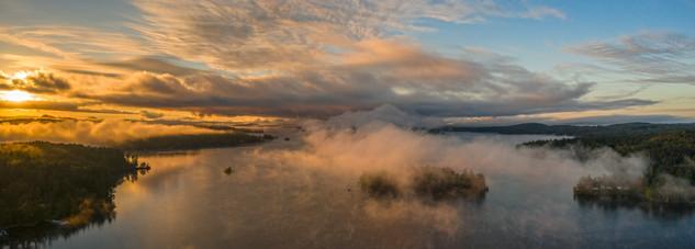 Lake Winnipesaukee Sunrise Panorama - Center Harbor, NH