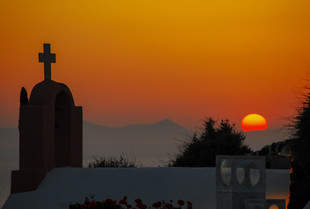 Church sunset Oia, Santorini, Greece
