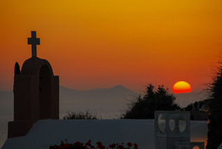Oia Church Sunset  - Santorini, Greece