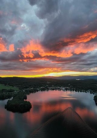 Firey Sunset over Winni - Lake Winnipesaukee, NH