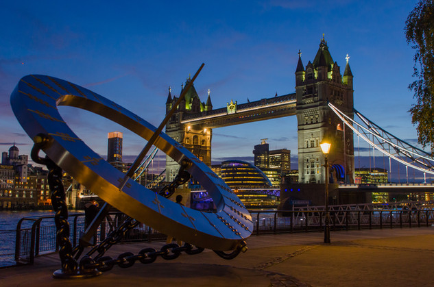 Tower Bridge with Top - London, England