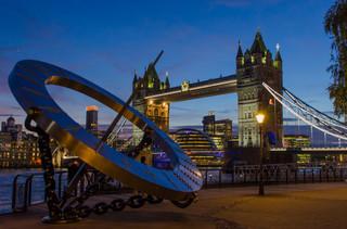 Tower Bridge with Top - London, England