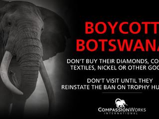 Boycott Botswana....still.