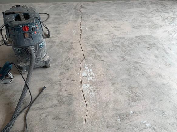 Garage prior to traffic coating