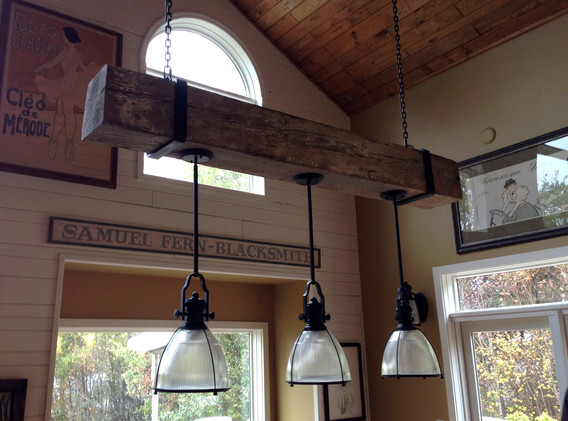 Reclaimed Timber Light Fixture