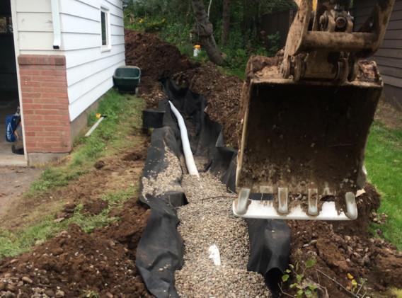 Yard Drainage Install