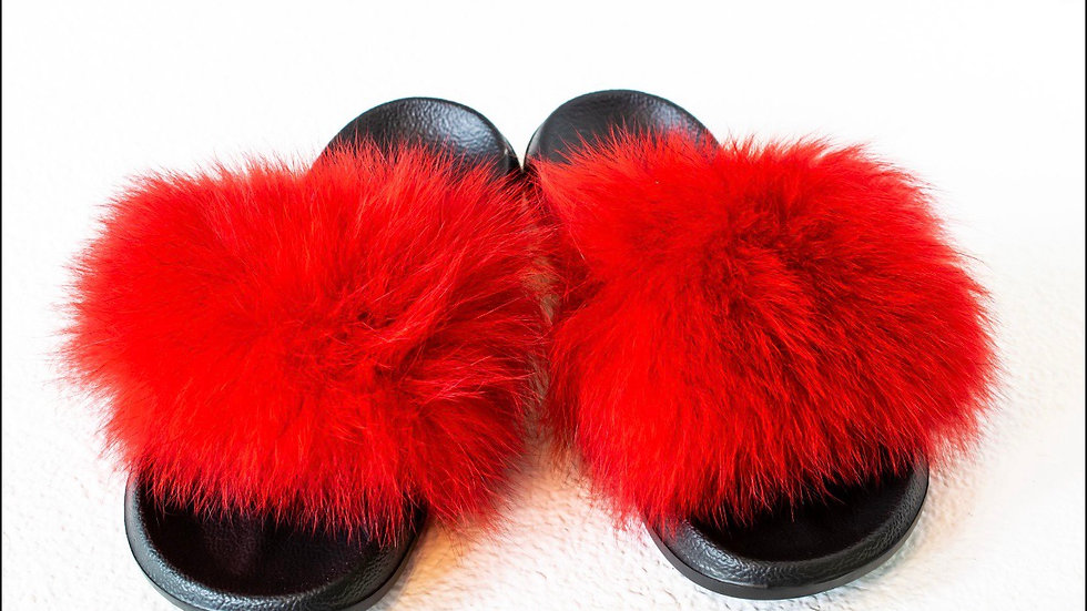 Red Fox Fur Slide