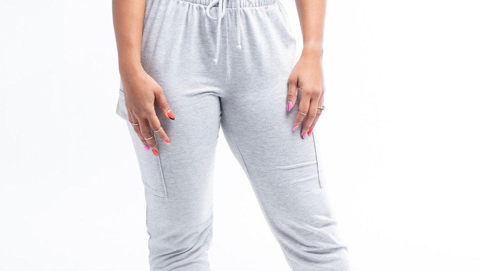 Gray Jogger Set w/ Side Pockets