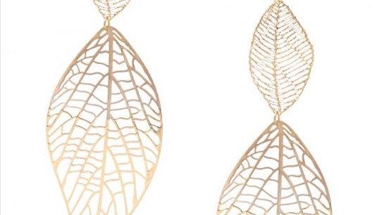 Lightweight Oversized Double Leaf Earrings
