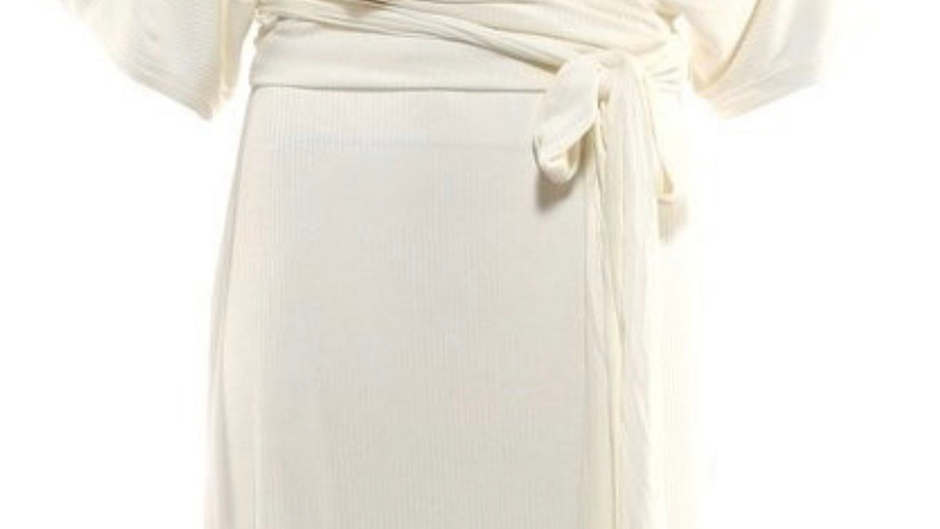 White Tie Waist Midi Dress