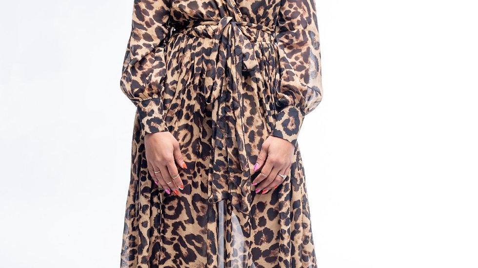 Queen Leopard Print Maxi Dress