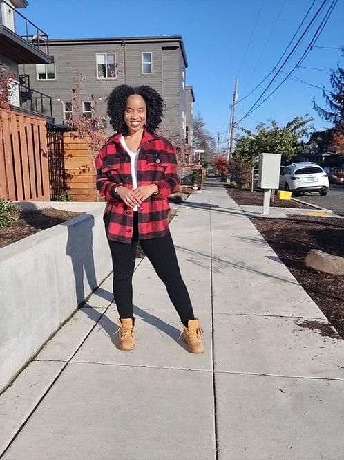 Red Portland Girl Flannel
