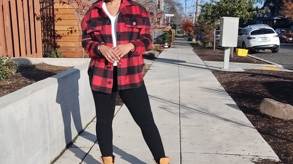 Red Portland Girl Flannel