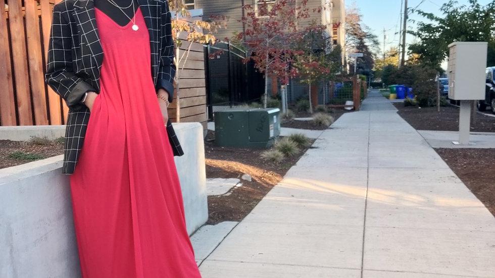 Red Harem Dress