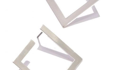 Urban Geometric Square Hoop Stud Earrings