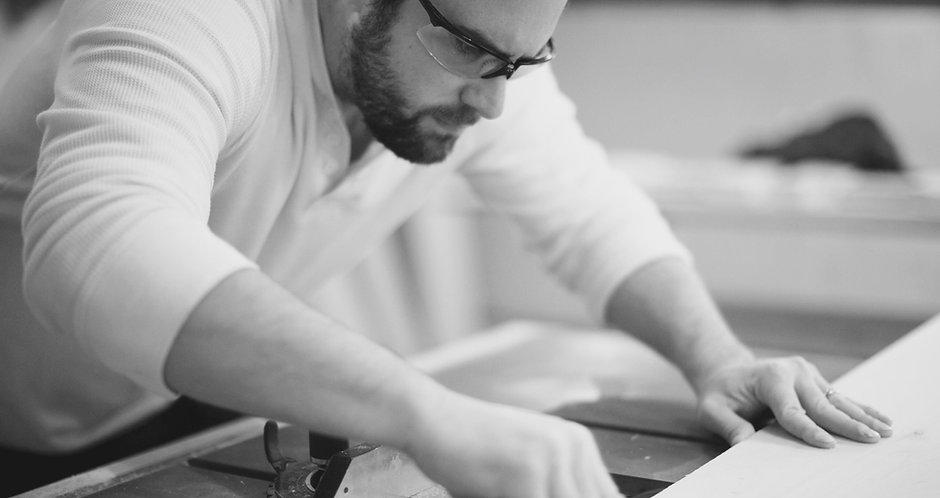 Image of James Erlinger creating custom cabinets for a kitchen remodel project | St Louis Renovators