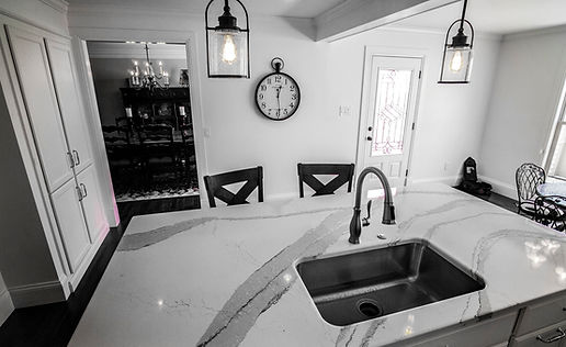 Custom Kitchen Restoration wih Marble Countertops and Paneling by St Louis Renovators
