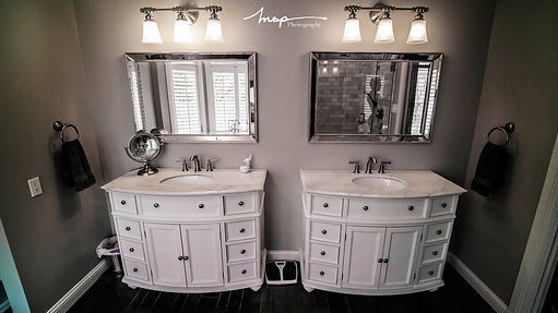 Image of Bathroom Remodel with His and Hers Vanities done by St Louis Renovators
