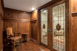 Wine Cellar with Glass Doors | St Louis