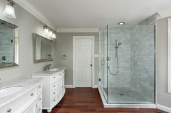 Walk-In Shower with Glass Doors, Grey Ti