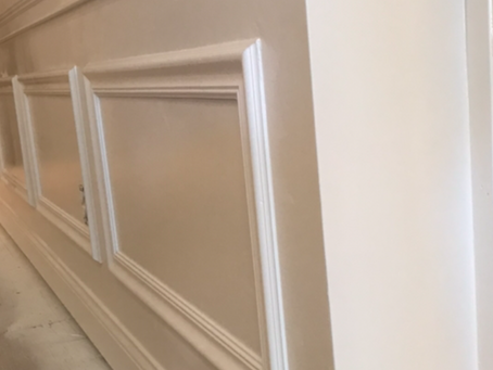 How do you install chair rail moulding?