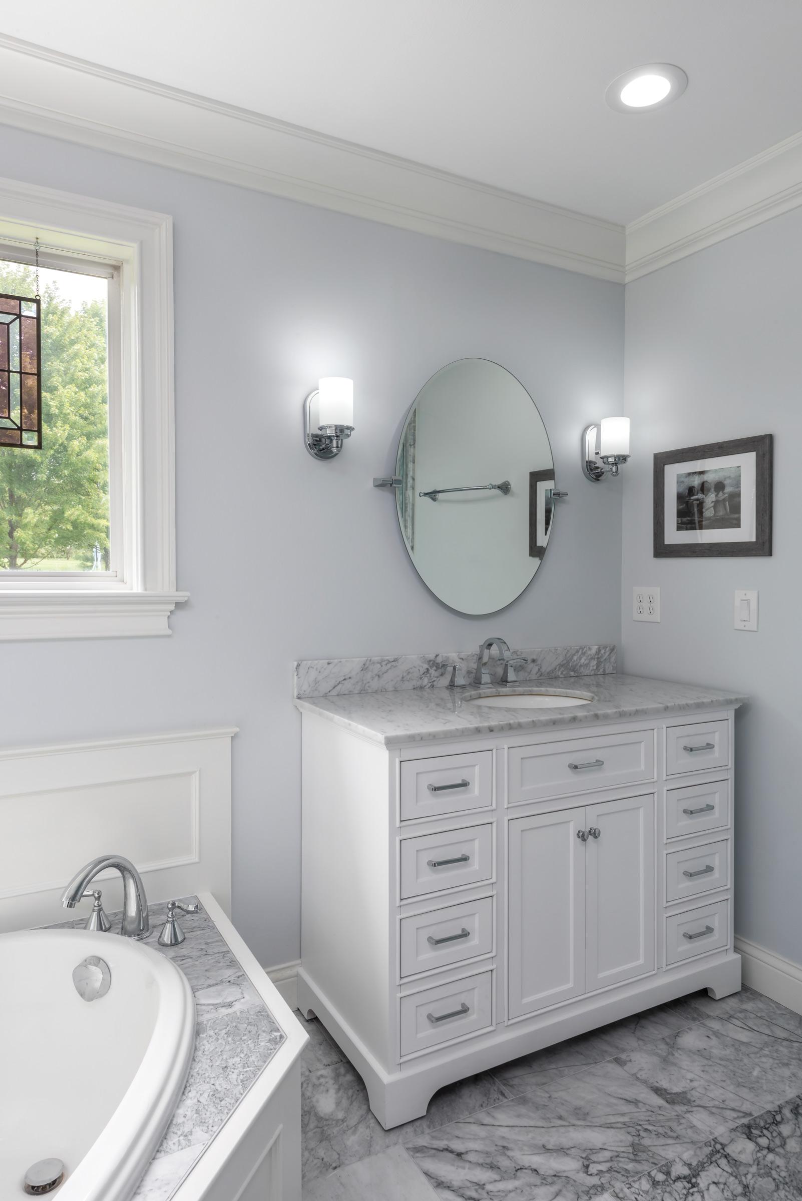 Grey Marble Tub and Vanity Top _ St Loui