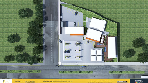 layout para posto de combustivel Belém PA