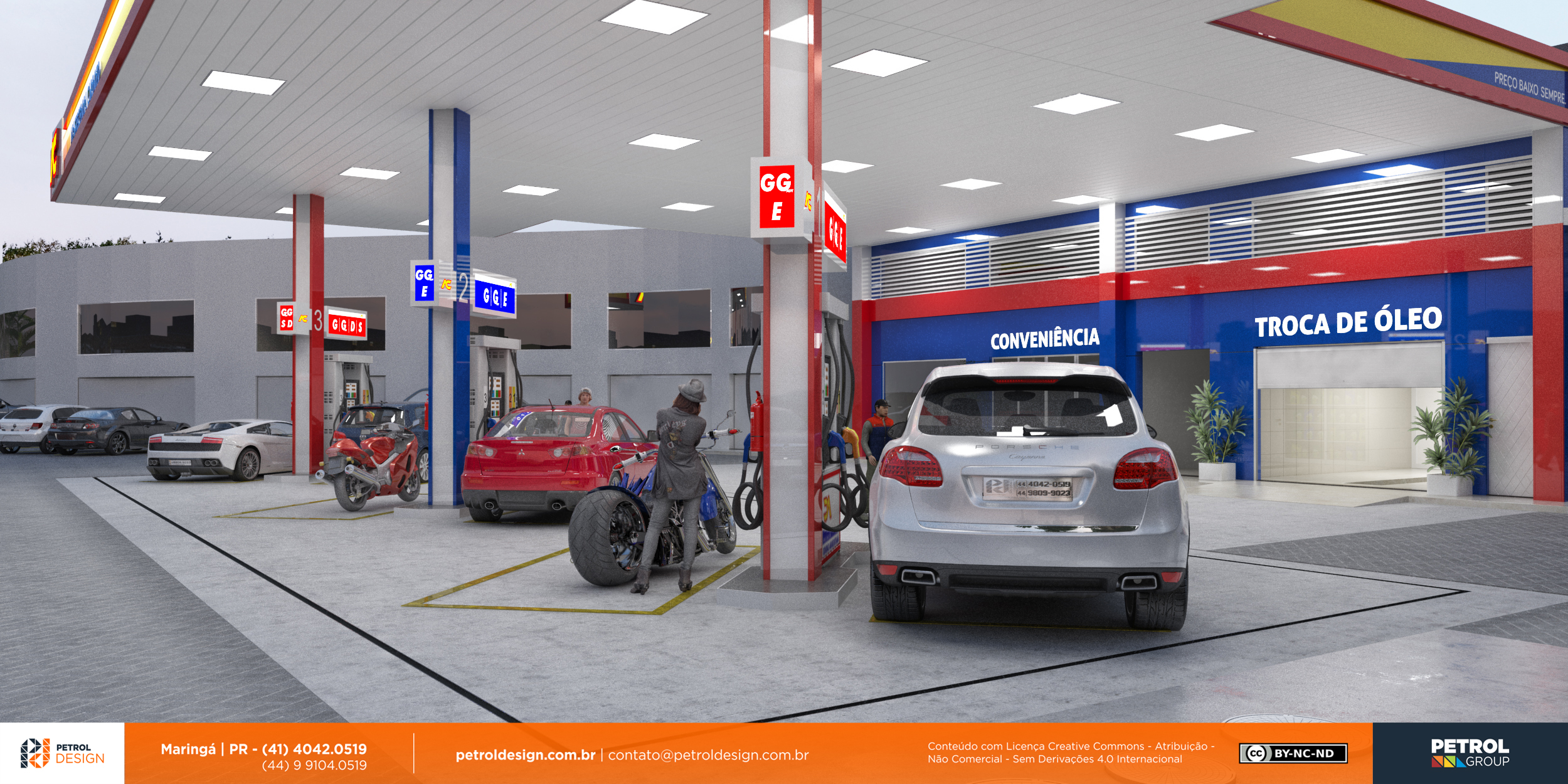 design comunicação visual posto de combustivel Viamão - RS
