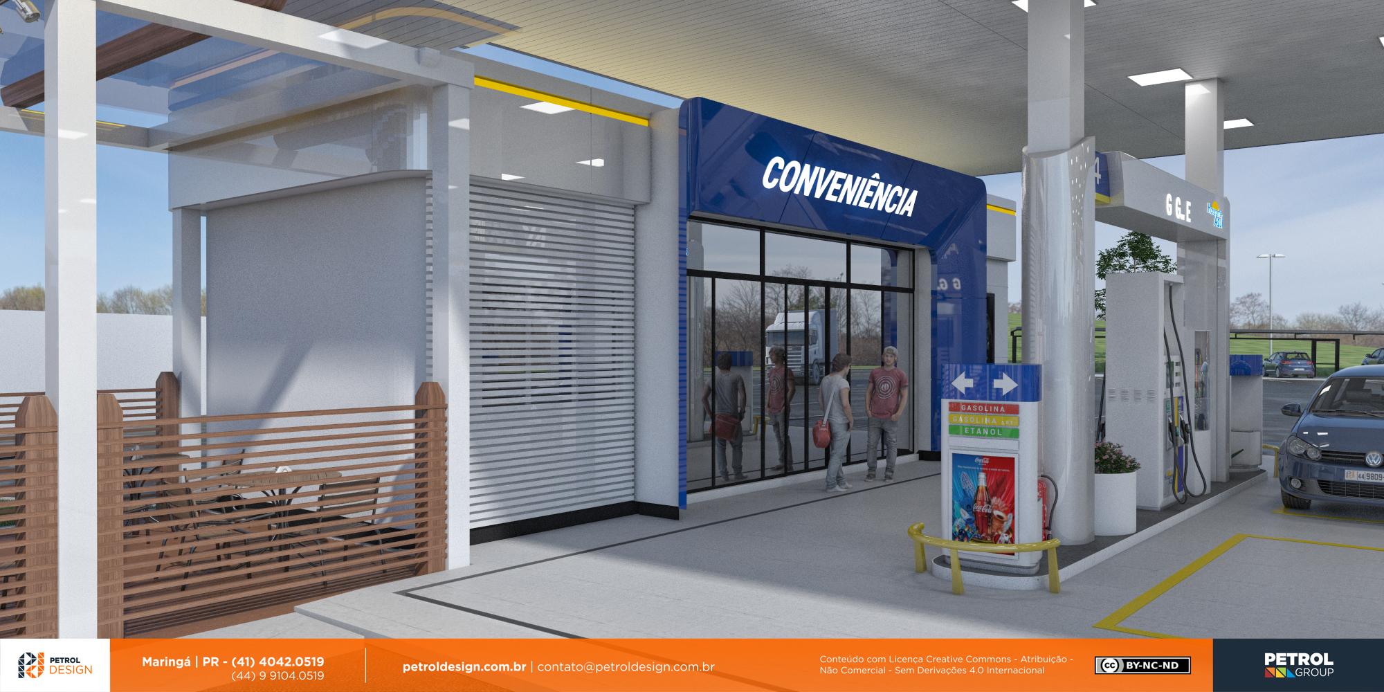 design de posto de gasolina Colatina ES