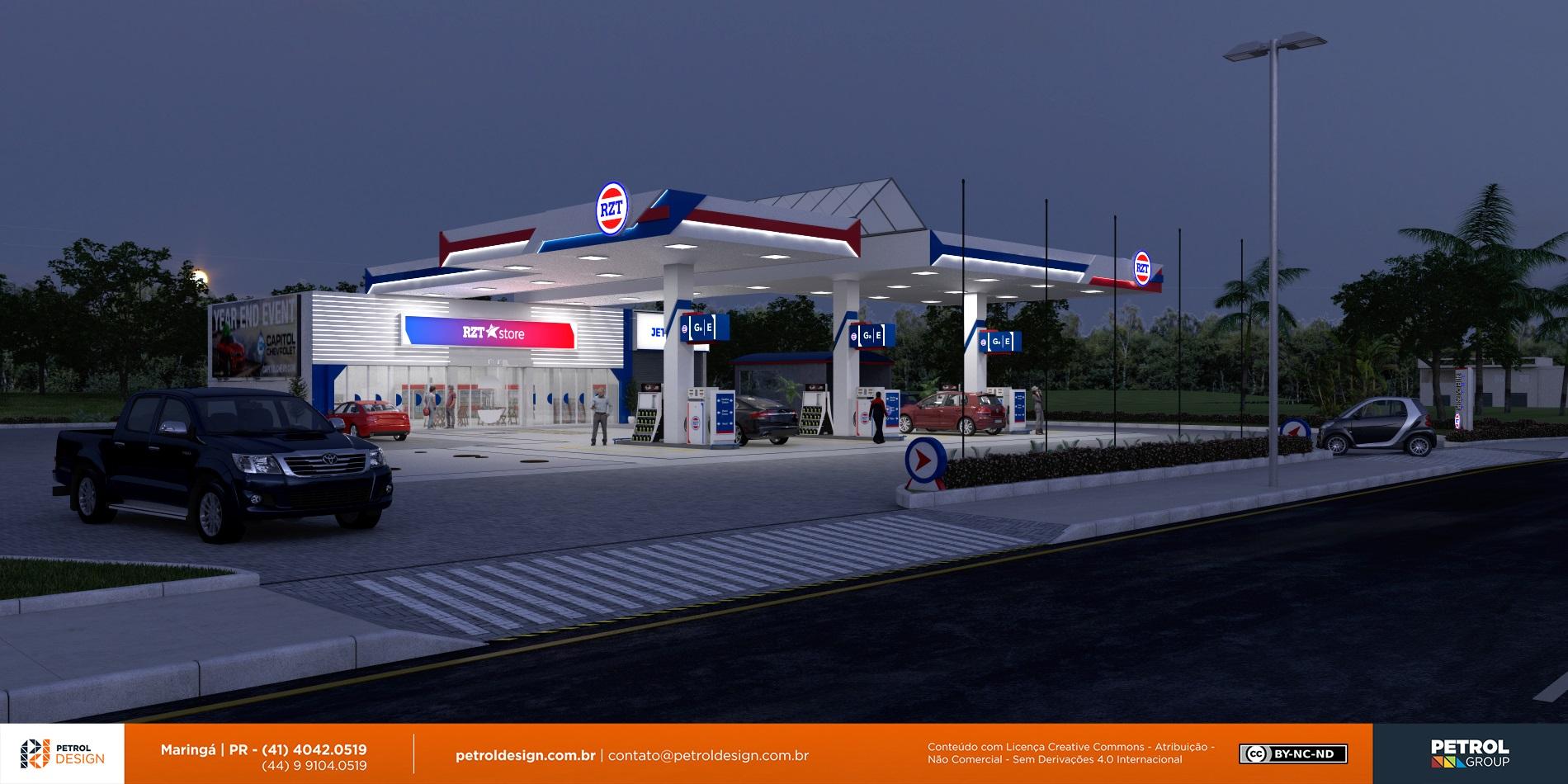 design de posto de combustivel Pomerode - SC