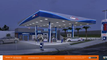 Imagem posto de gasolina moderno