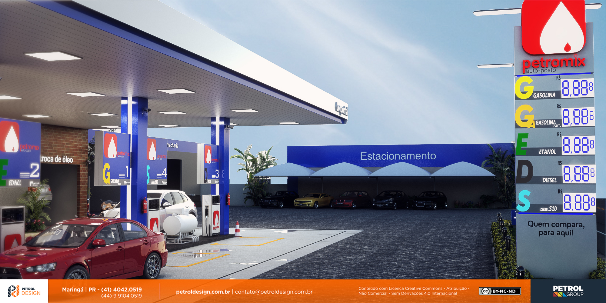autoposto gasolina bandeira branca Palmas PR