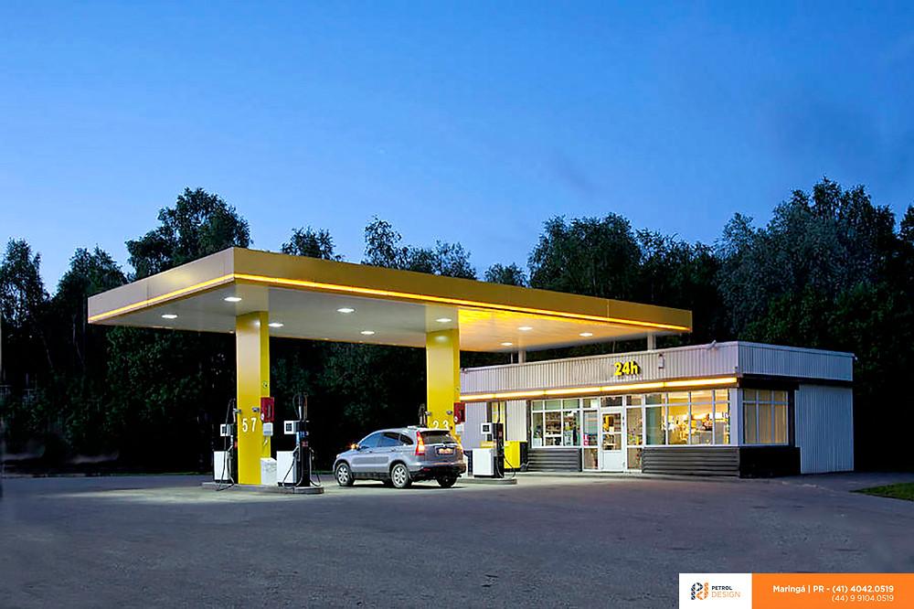 Posto de combustível sem bandeira